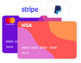 stripe and paypal payment methods on vetrina live ecommerce