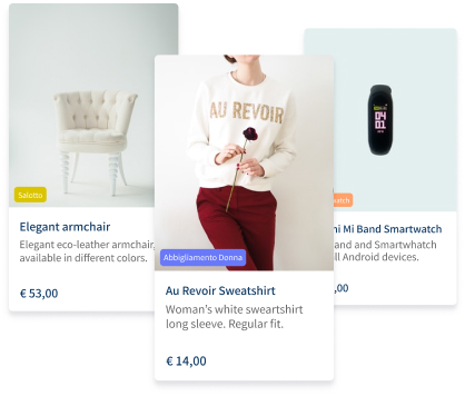 product card of vetrinalive ecommerce