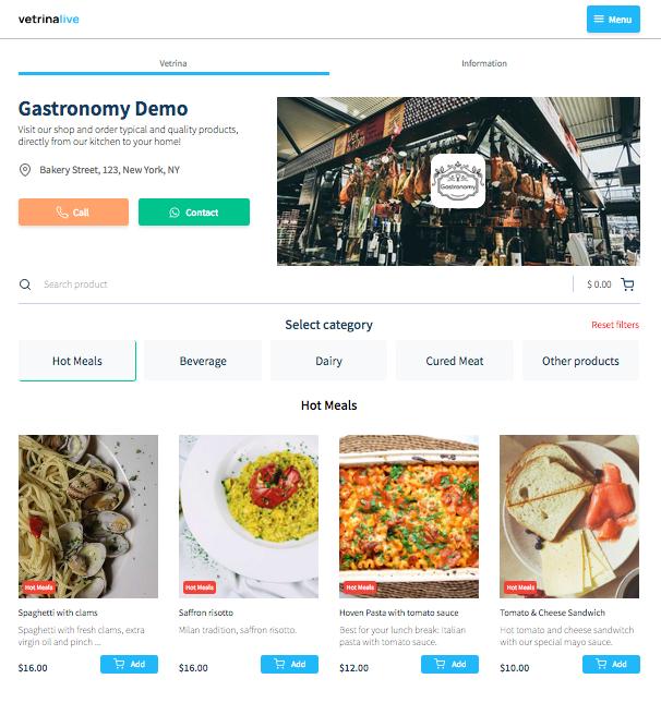 Vetrina Live: your easy e-commerce