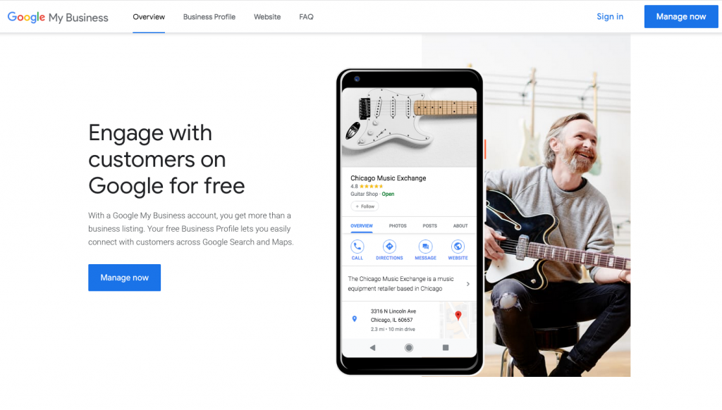 how to register a company profile on Google My Business