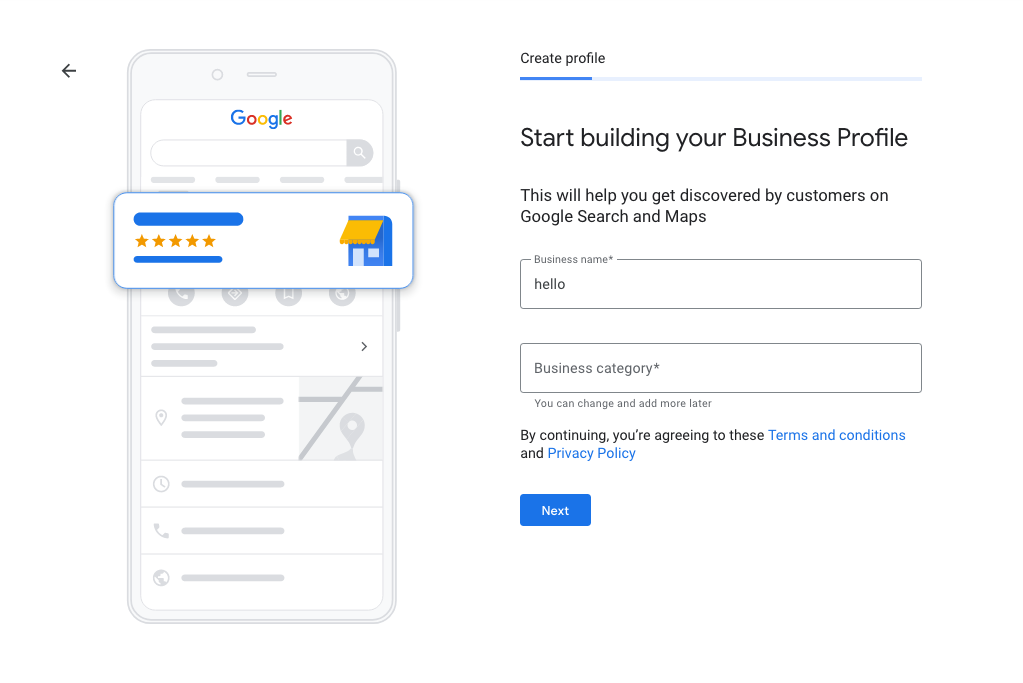 How to create your company profile on Google My Business
