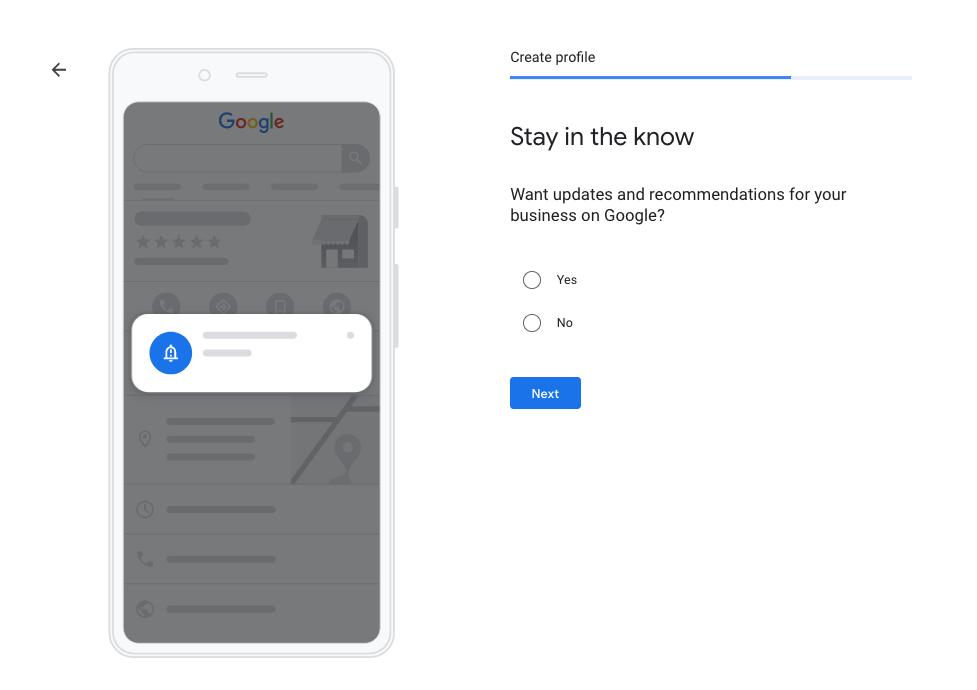 company account on Google My Business