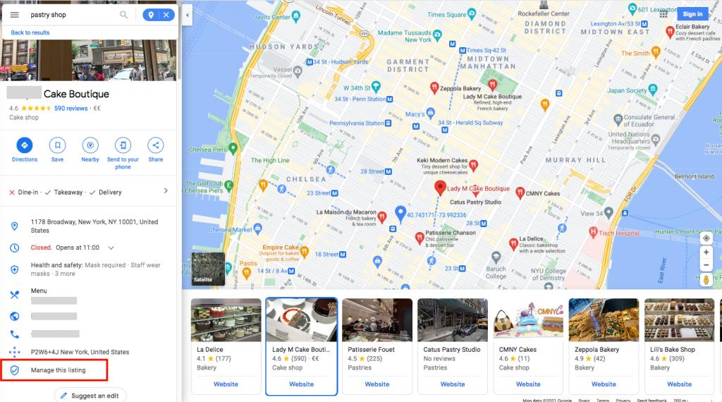 claim your company on Google Maps