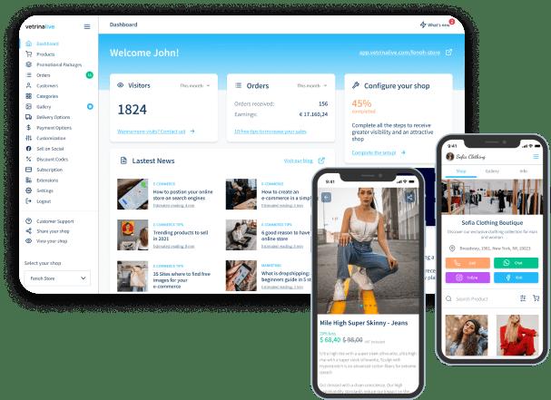 vetrinalive dashboard mobile 2
